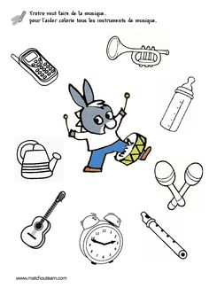 trotro fiches maternelle Music Lesson Plans, French Lessons, Music For Kids, Fun Activities For Kids, Music Education, Coloring Pages For Kids, Savannah Chat, Kindergarten, School
