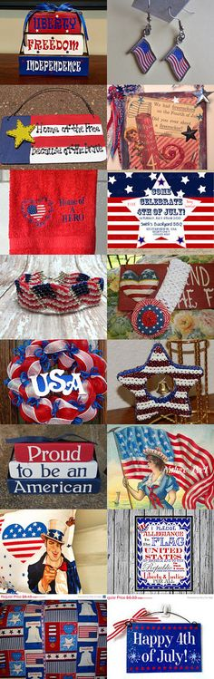 A Red, White and Blue Celebration Treasury by Lorraine Atwell on Etsy--Pinned with TreasuryPin.com
