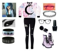 """KILLSTAR - Emo Outfit"" by mrosep on Polyvore featuring Miss Selfridge and OPI"
