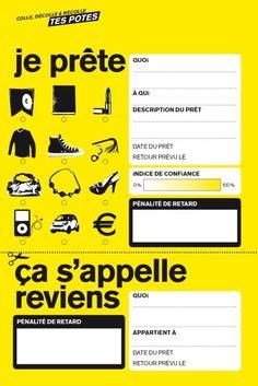 """Ça s'appelle """" reviens """"   Le français et vous  Lorsque l'on prête un objet à un ami l'expression ça s'appelle reviens permet de rappeler fermement mais sans le dire trop sérieusement qu'il ne s'agit que d'un prêt et que l'objet doit revenir à son propriétaire.  via Instagram https://www.instagram.com/p/BMpnR94gEFR/  A la une Vocabulaire"""