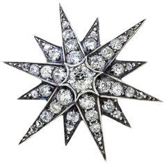 Antique: Victorian Diamond Star Brooch