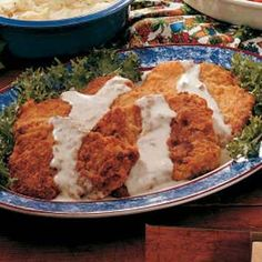 Country-Fried Steak - This had a yummy breading...my hubby felt it was not salty enough, but the rest of us liked it.  The gravy was BORING...yuck!  I used pork instead of beef because that is what I had on hand...will use beef for sure next time I make Country-Fried Steak ;)