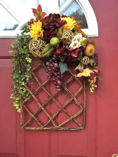 Beautiful all year around Gravine Wreath by CarolaFlowerDesigns, $60.00