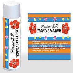 Personalized Luau Leis Flowers Lip balms - sell them personalized for your event