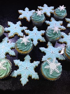 Festive cookies and cupcakes