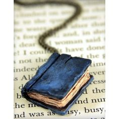 Beloved Dark Blue Book Necklace, jewelry, handmade | My Style ❤ liked on Polyvore featuring books, jewelry and necklaces