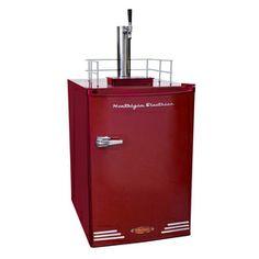 Nostalgia Electrics 6-cu ft Red Freestanding Kegerator