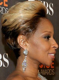 Mary J Blige Short Hairstyle Best Short Hair Styles