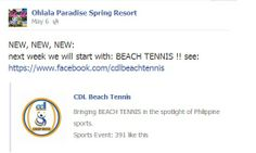 And so it started, the Beach Tennis fever!  Now also in Albay.   Thank you Ohlala Paradise Spring Resort for supporting our advocacy to spread the sport in the Philippines.   Next target: Olympic Beach Tennis.   #philippinebeachtennis #beachtennisphilippines #PHBeachTennis #itsmorefuninthephilippines #fadysports #tobys #philippines #beaches #beachsport #fun #sand #summer #sun #sports #CDLbeachtennis #fady #beachtennis #olympicbeachtennis