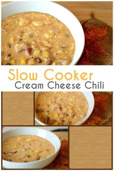 Slow Cooker Cream Cheese Chicken Chili is perfect to warm your kitchen and home. An easy throw together recipe. It will melt in your mouth.
