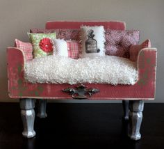 Dog Beds Exquisite Pet Loungers. JUST PEACHIE by designercraftgirl