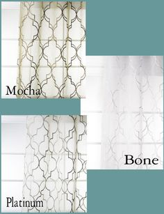 Custom Modern Fretwork Sheer Drapes by avecdieu on Etsy