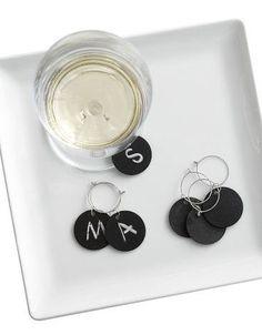 chalkboard wine charms. yes, please! #partyshoppe