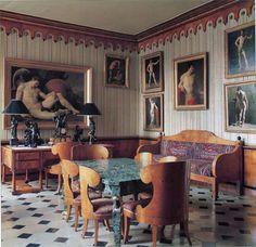 nureyev's paris dining room decorated by renzo mongiardino.