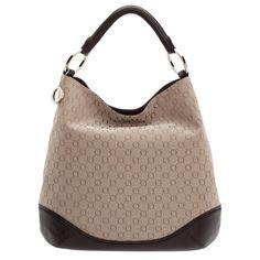 Chocolate Taupe Jacquard Bag By Oroton