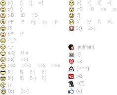 Facebook Emoticons cheat sheet.