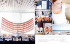 nautical wedding from my customer with an E Heritage pillow