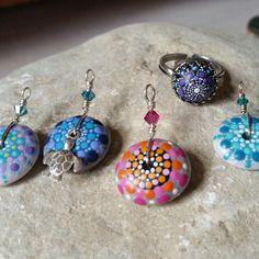 Süße handbemalte Mandala Stone s