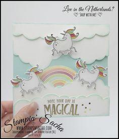 Stampin' Sacha | Stampin' Up! | Spring/Summer Catalogue 2018 | Magical Day | Magical Mates Framelits | Sunshine & Rainbows | Rainbow Builder Framlits | Interactive Card