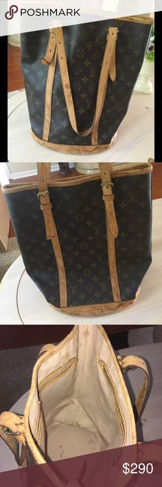 ada8d381a5e4 Authentic lv large bucket bag Good condition. Water marks on the leather.
