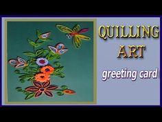 Quilling... Video Anleitung für ein Blumen Bild.
