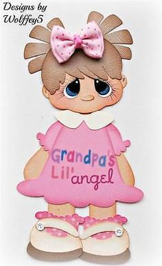Paper Piecing Scrapbook Kits | ELITE4U GIRL GRANDPA paper piecing premade scrapbook page album TITLE ...
