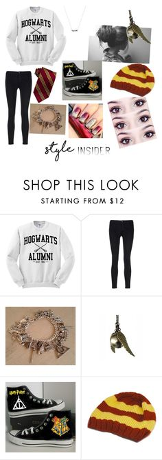 """Hogwarts style"" by hogwarts-is-home ❤ liked on Polyvore featuring J Brand, Converse, contestentry and styleinsider"