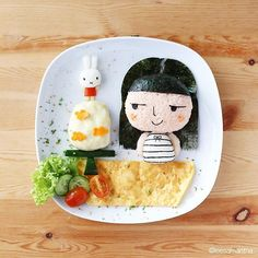 """Happy birthday to my beloved little daughter! I made this for the birthday girl. She said """"Eat my face !!!""""  #happybirthdayevana #foodart"""