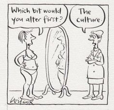 Wilcox, as usual, nails it. - society & our looks - eating disorders and plastic surgery