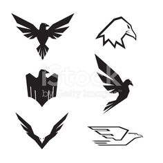 Eagle Set royalty-free stock vector art