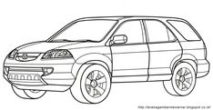 Gambar Mewarnai Mobil Untuk Anak Paud Dan Tk Aneka Gambar Mewarnai