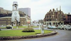 Corporation Street old fire station on the left. Aston Road ahead and Vauxhall Street on the right about 1963.