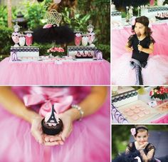 {Je T'aime Paris} Chic Ballerina Party by Little Chiyo and Cupcakes By Tara!
