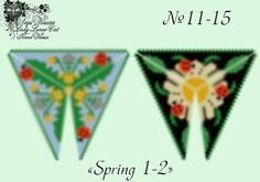 "Schemes for the beading by Lady Lunar Cat peyote pattern beaded triangle "" Spring"" #LadyLunarCat #triangle #pattern"