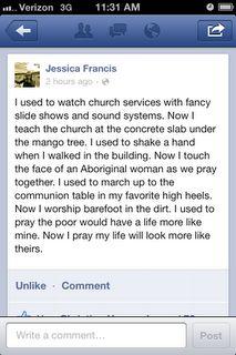 missionary talk.