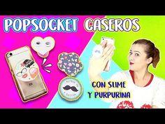 DIY Popsocket casero de slime y purpurina | Popsocket para Musical.ly o soporte de móvil - YouTube