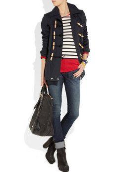 Burberry Brit  Cotton-gabardine jacket + love the bag!!!