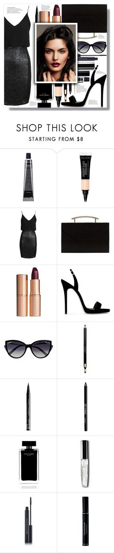 """Work hard, party hard: Girls' night"" by the-greatest-eva-made ❤ liked on Polyvore featuring TFNC, MANGO, Charlotte Tilbury, Giuseppe Zanotti, La Perla, Clarins, NYX, Urban Decay, Narciso Rodriguez and Christian Dior"