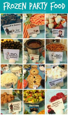 Great themed foods for a Disney FROZEN party via momendeavors.com!!