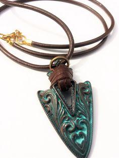 Man van de ketting, Boho halsketting, halsketting van de Mens, Man sieraden, pijlpunt ketting, Mens Brown ketting, bruin lederen ketting, Mens sieraden, geschenken
