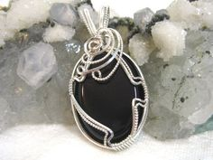 Black Onyx Pendant Solid 930 Sterling Silver by jpatterson312, $60.00