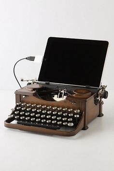 Need this typewriter that works with both iPad and with paper