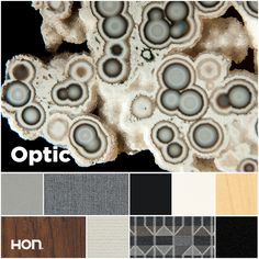 Far beyond basic, optic plays black off white and texture off pattern for visual interest and professional perfection. Office design inspiration from The HON Company.