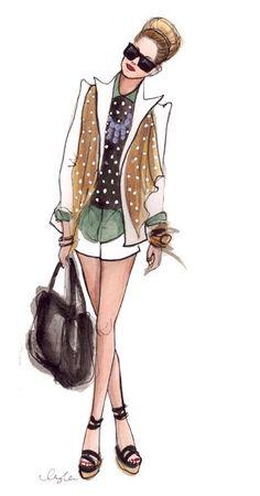 Fashion Sketches -  Modern Lady #fashion #illustration  www.chloeandisabel.com/boutique/amandalouise www.facebook.com/chloeandisabelbyae