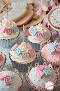 cupcake decorado-baby