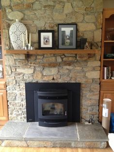 Fireplace evolution: why we chose a pellet stove - Wood Burning Fireplace Inserts Pellet Stove Fireplace Insert, Best Pellet Stove, Wood Burning Stove Insert, Pellet Stove Inserts, Wood Stove Surround, Wood Pellet Stoves, Wood Burning Fireplace Inserts, Brick Fireplace Makeover, Home Fireplace