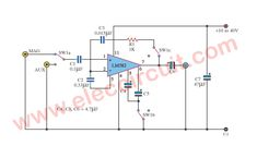 Simple op-amp Preamplifier circuit using Electronic Circuit Design, Listening To Music, Arduino, Layouts, Tools, Amp, Simple, Laughing, Instruments