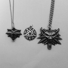 The Witcher 3 Wild Hunt Wiedźmin 3 Dziki Gon Medalion Necklace Yennefer Ciri Cirilla Geralt