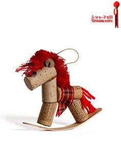 Cork rocking horses are very popular in the wine country ~ ☮❥•.¸¸ http://www.awefullornaments.com/2011/12/quirky-cork-fun-other-hand-made-fun/# ☮❥•.¸¸☮❥•.¸¸
