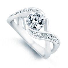 Mark Schneider Soulmate 1.31cttw freeform diamond engagement ring